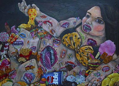 French Fried Painting - Junk Food by Narongchai Saelee