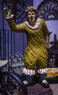 Clown Photograph - Junkyard Clown by Garry Gay