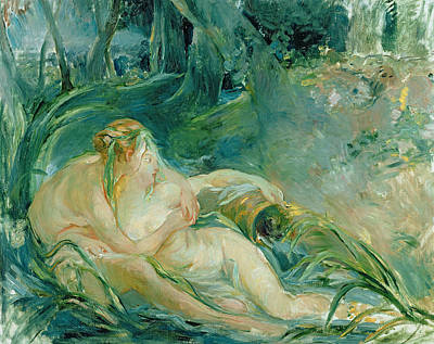 God Body Painting - Jupiter And Callisto by Berthe Morisot