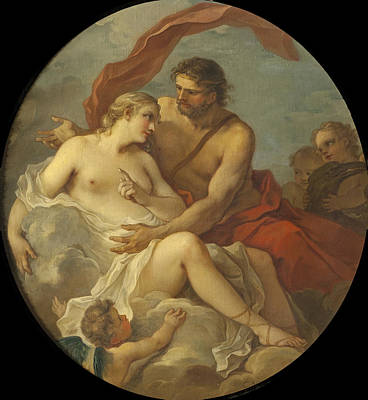 Painting - Jupiter And Callisto by Charles-Joseph Natoire