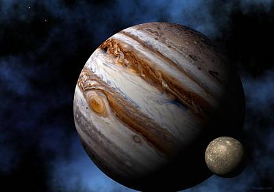 Planet Digital Art - Jupiter by David Robinson