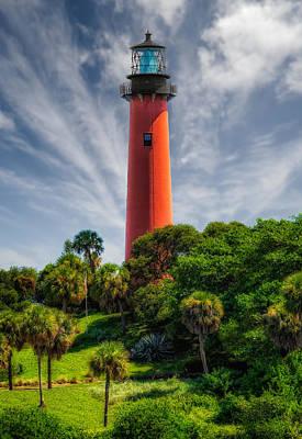 Jupiter Inlet Lighthouse - 10 Print by Frank J Benz