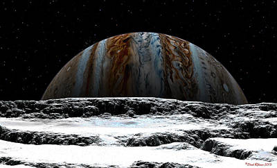 David Robinson Digital Art - Jupiter Rise At Europa by David Robinson