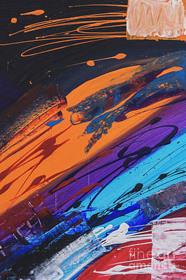 Deep Space Art Painting - Jupiter Rising Abstract Art by Billie Anzevino