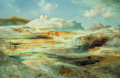 Jupiter Terrace  Yellowstone Print by Thomas Moran