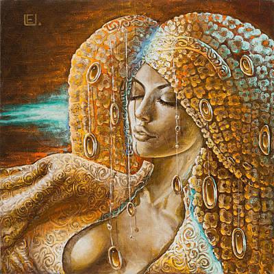 Angel Painting - Jurate by Eurika Urbonaviciute