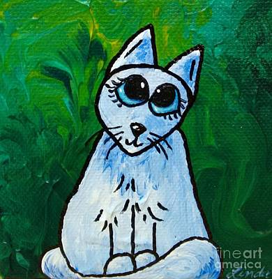 Limbbirds Painting - Just A Cat #2 by LimbBirds Whimsical Birds