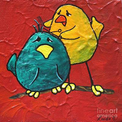 Limbbirds Painting - Just A Little Off The Top by LimbBirds Whimsical Birds
