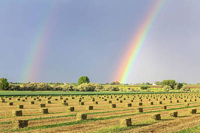 Hay Photograph - Just Another Country Rainbow by James BO Insogna