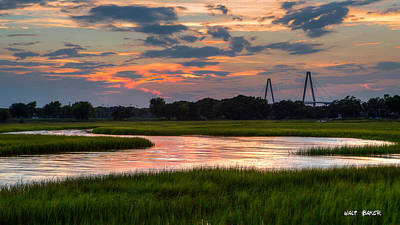 Just Another Ravenel Sunset Print by Walt Baker