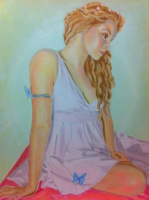 Contemplating Drawing - Just Be by Yvonne Payne