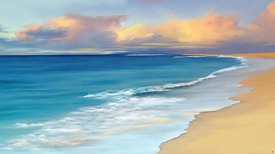 Tropical Island Digital Art - Just Beachy by Anthony Fishburne
