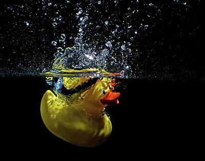 Enjoyment Mixed Media - Just Ducky Splash by Terril Heilman