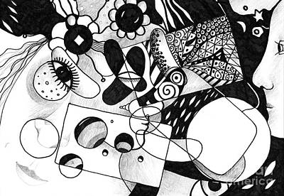 Mardi Drawing - Just In Time by Helena Tiainen