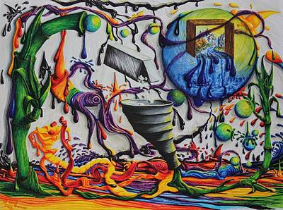 Drip Drawing - Just My Imagination II by Carol Frances Arthur