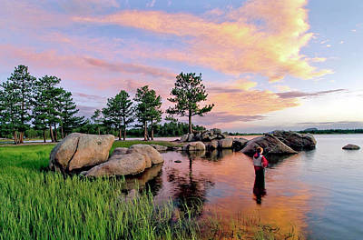 Mixed Media. Mixed Media Sunset . Mixed Media Colorado Sunset Photograph - Just One More by James Steele