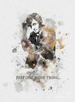 Peter Falk Mixed Media - Just One More Thing... by Rebecca Jenkins