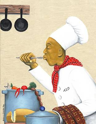 Cookbooks Painting - Just Right by Arthur Dawson