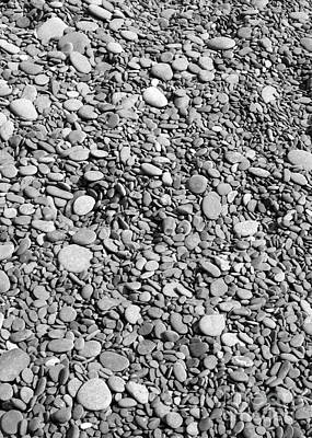 Abstract Photograph - Just Rocks - Black And White by Carol Groenen