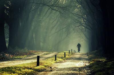 Just Some Biking... Print by Martin Podt