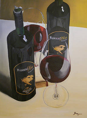 Wine Glass Painting - Just The 2 Of Us by Brien Cole