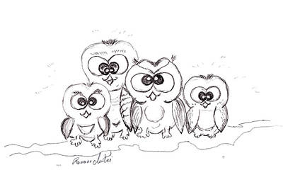Buddy Drawing - Just The Four Of Us by Ramona Matei