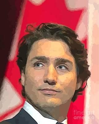 Liberal Digital Art - Justin Trudeau  by John Malone