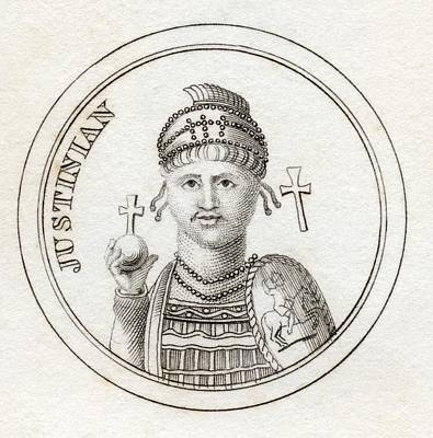 Justinian I Or Justinian The Great Print by Vintage Design Pics