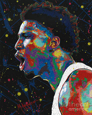 Painting - Justise Winslow by Maria Arango