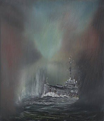 World War One Painting - Jutland by Vincent Alexander Booth