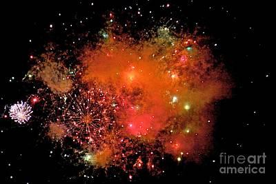 Fire Works Digital Art - Ka Boom by Robert Pearson