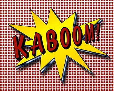 Comic Strip Digital Art - Kaboom Pop Art by Suzanne Barber