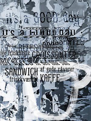 Sandwich Digital Art - Kaffe 1- Art By Linda Woods by Linda Woods