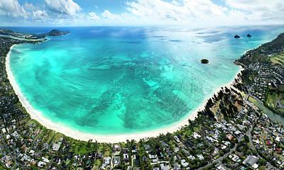 Kailua - Lanikai Overview Print by Sean Davey