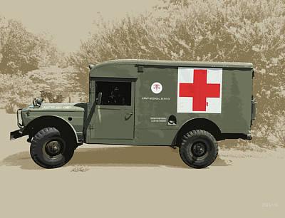 Kaiser Jeep M725 Army Print by Greg Joens