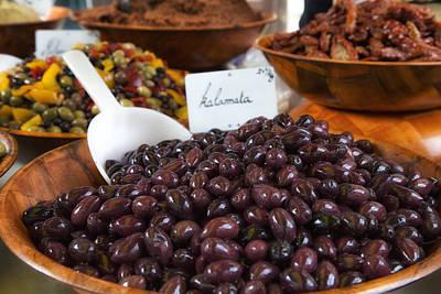 Olea Europaea Photograph - Kalamata Olives At The Market by Georgia Fowler