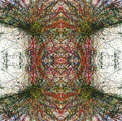Kaleidoscope Mandalas #1115 Print by Rainbow Artist Orlando L aka Kevin Orlando Lau