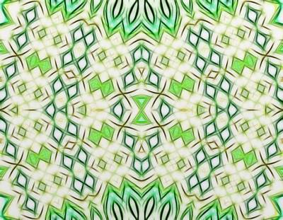 Kaleidoscope With A Tribal Flair Print by Gina Lee Manley