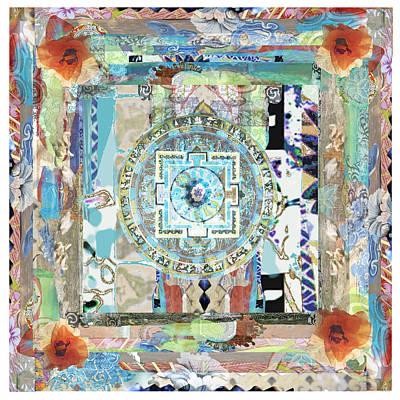 Kali Blue Mandala Print by Maria Karki