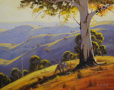 Kangaroo Painting - Kangaroo With Gum by Graham Gercken