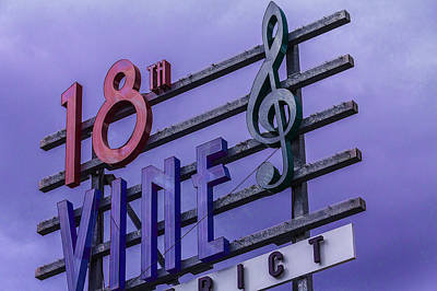 Kansas City 18th And Vine Sign Print by Steven Bateson