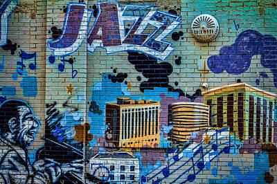 Kansas City Jazz Mural Print by Steven Bateson