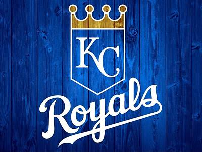 Blue Barn Doors Mixed Media - Kansas City Royals Barn Door by Dan Sproul