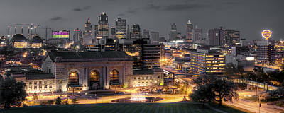 City Center Photograph - Kansas City Skyline by Ryan Heffron