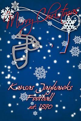 Kansas Jayhawks Christmas Card Print by Joe Hamilton