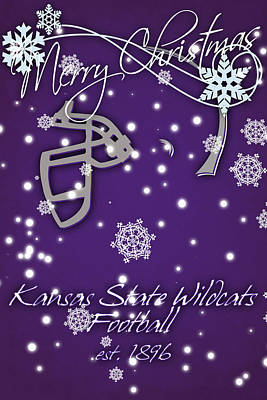Benches Photograph - Kansas State Wildcats Christmas Card by Joe Hamilton