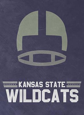 Kansas State Wildcats Vintage Football Art Print by Joe Hamilton