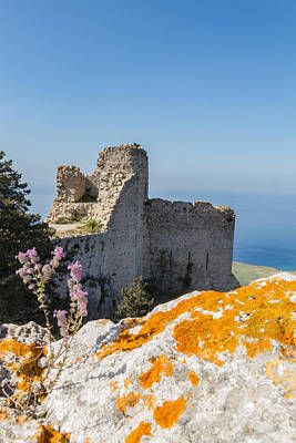 Old Photograph - Kantara Castle, Cyprus by Iordanis Pallikaras