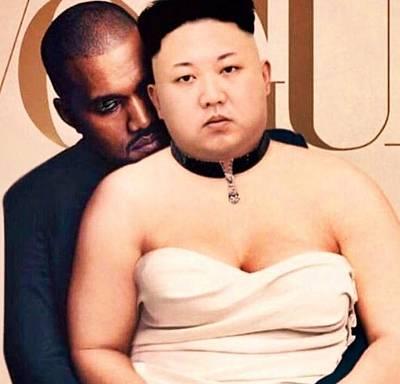 Kanye Kim  Print by Bigpoppascollectablesllc