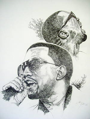 Rhythm And Blues Drawing - Kanye West by Otis  Cobb